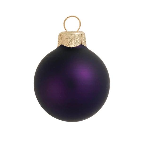 "28ct Matte Purple Glass Ball Christmas Ornaments 2"" (50mm)"