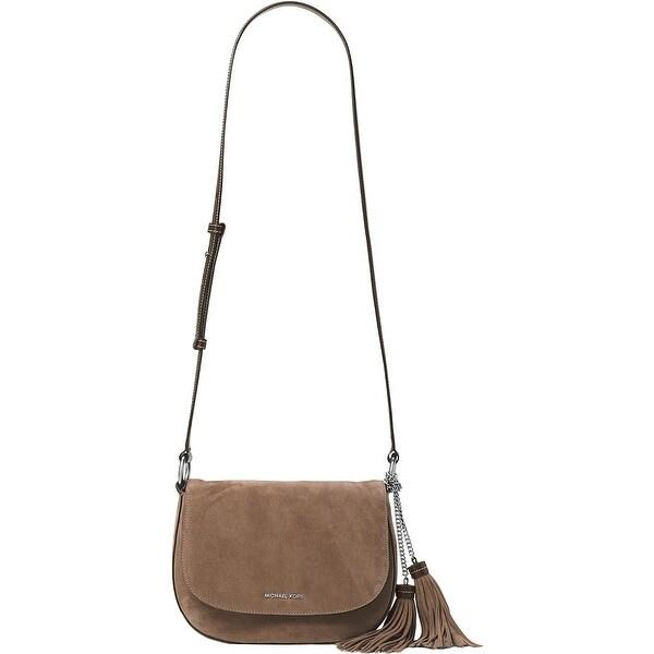 16d72882056f Shop MICHAEL Michael Kors Womens Shoulder Handbag Suede Saddle Bag - Medium  - Free Shipping Today - Overstock - 20865699