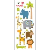 473453 Puffy Classic Stickers-Zoo Friends