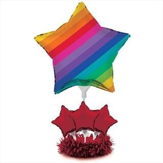 Rainbow - Air Filled Balloon Centerpiece Kit - Case of 4