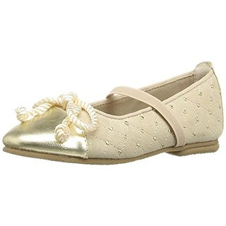 Balleto Girls Katrina Leather Trim Ballet Flats - 3.5 medium (b,m)