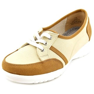 Beacon Sporty Lace Up Women N/S Round Toe Canvas Tan Sneakers