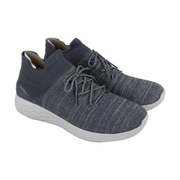 Skechers Go Strike Perform Mens Gray Textile Athletic Running Shoes