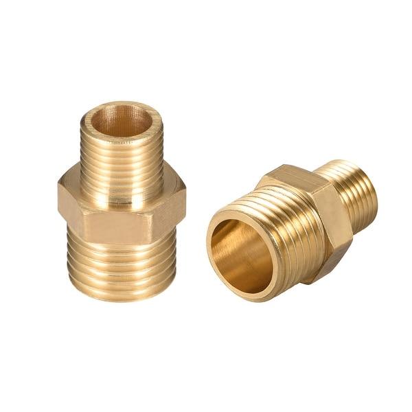 "Brass Pipe Fitting Reducing Hex Nipple 1/4""x 1/8"" G Male Pipe Brass Fitting 2pcs - 1/4"" to 1/8"" G Male 2pcs"