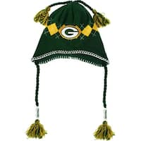 Green Bay Packers Tassle-Gyle Knit Cap