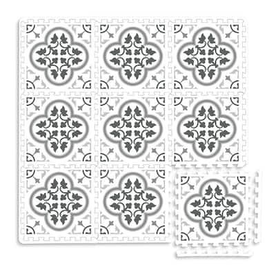 Hamal Interlocking Floor Foam Tiles - 34.2in x 34.2in x 0.4in