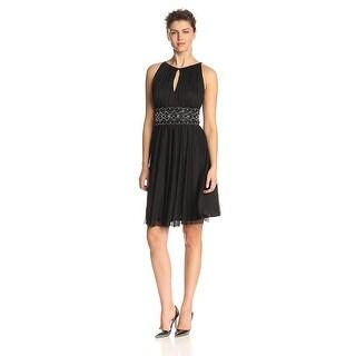 Jessica Howard Sleeveless Keyhole Embellished Dress - 6