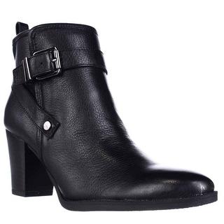 Franco Sarto Delancy Wrap Strap Ankle Boots - Black