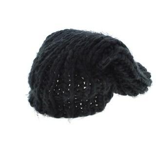 Free Press Womens Crochet Fashion Slouchy Beanie Hat - o/s