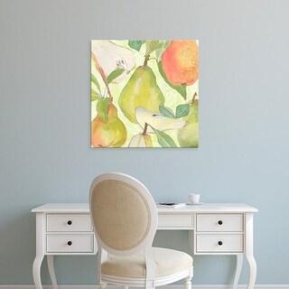 Easy Art Prints Leslie Mark's 'Pear Medley II' Premium Canvas Art