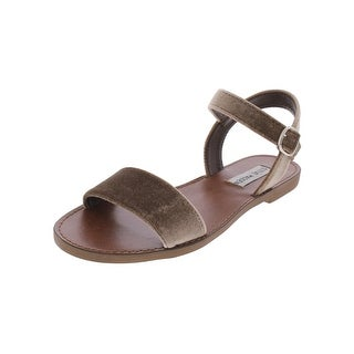 Steve Madden Womens Donddi-V Flat Sandals Open Toe Slingback