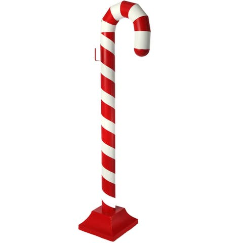 "47"" Red and White Tall Christmas Candy Cane"