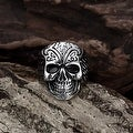 Vienna Jewelry Thick Rounded Stainless Steel Skull Ring - Thumbnail 2
