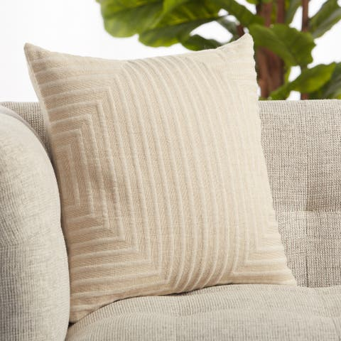 Neutra Light Taupe Geometric Throw Pillow 18 inch