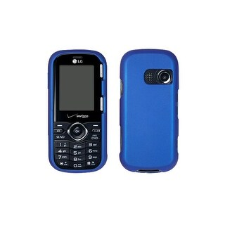 Verizon - Rubberized Hard Snap-On Case for LG Cosmos VN250 - Blue