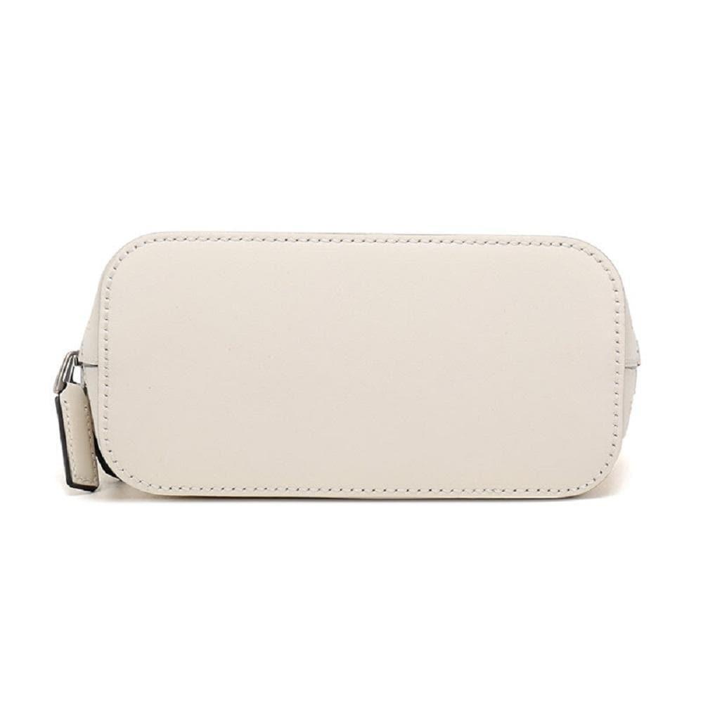 Gucci GUCCY Sega Script Leather Cross Body Bag White/Gold 511189