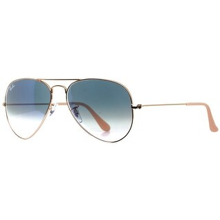 Ray Ban RB3025 001/3F 58mm Gold Light Blue Gradient Unisex Aviator Sunglasses - 58mm-14mm-135mm