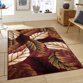 """Allstar Burgundy Area Rug. Contemporary. Abstract. Traditional. Geometric. Formal. Shapes. Squares (5' 2"""" x 7' 1"""")"""