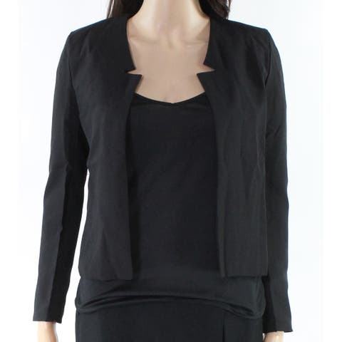 Face Face Black Womens Size XS Open Front Star Neckline Jacket