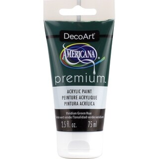 Americana Premium Acrylic Paint Tube 2.5Oz-Viridian Green Hue