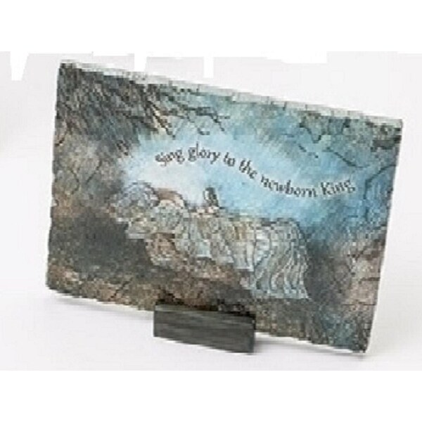 """7"""" Inspirational """"Sing Glory to the New Born King"""" Baby Jesus Religious Christmas Decorative Plaque"""