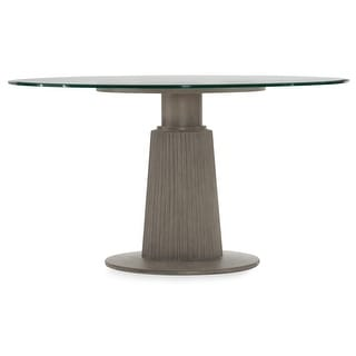 """Hooker Furniture 5990-75203-42  Elixir 42"""" Round Rubberwood and Glass Dining Table - Serene Gray Beige"""