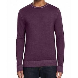 Michael Kors NEW Purple Mens Size Large L Crewneck Wool Sweater
