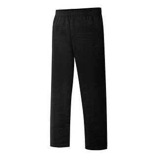 Hanes EcoSmart® Boys' Open Leg Sweatpants - Color - Black - Size - L