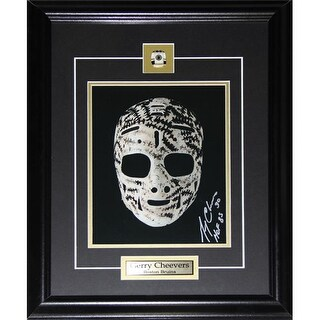 Midway Memorabilia Gerry Cheevers Signed Mask 8X10 Photo Frame