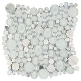"""Emser Tile W80LUCE1212MOC Lucente - 11-13/16"""" x 11-13/16"""" Penny Mosaic Multi-Sur - N/A"""