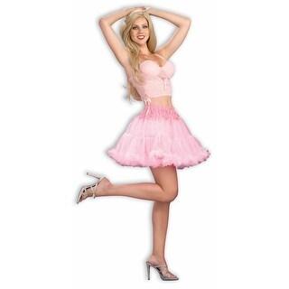 "Pink Short Crinoline Tutu 16"" Petticoat Costume Adult Standard"