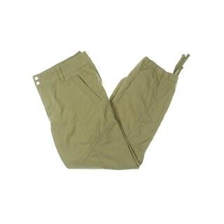 Lauren Ralph Lauren Womens Petites Cargo Pants Ruched Drawstring Hem - 14P