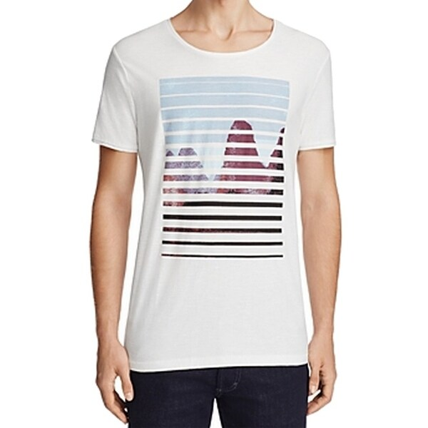 378d6ace Shop Hugo Boss NEW White Mens Size Medium M Graphic Crewneck Tee T-Shirt -  Free Shipping On Orders Over $45 - Overstock - 19460817