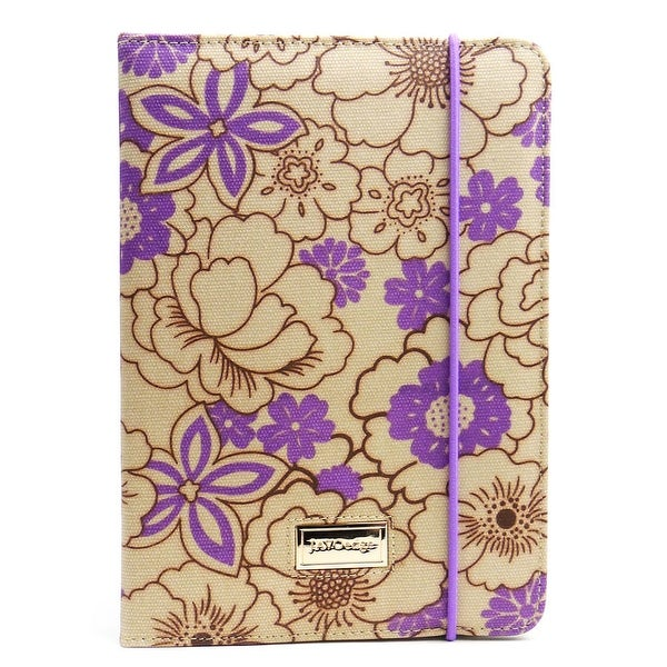JAVOedge Poppy Folio Case for the Apple iPad Mini (Plum Purple)
