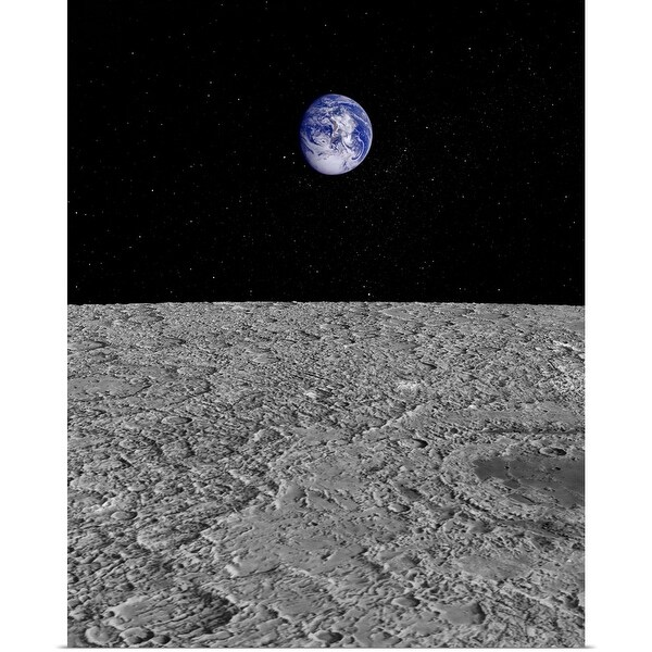 """""""Illustration of a View of Earth from the Moon"""" Poster Print"""