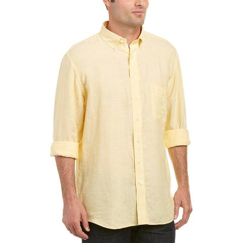 Mine Apparel Inc Washed Linen Woven Shirt
