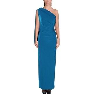 Lauren Ralph Lauren Womens Petites Semi-Formal Dress One Shoulder Jersey
