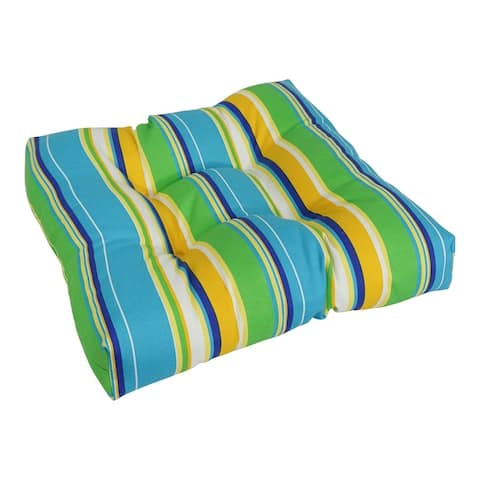 """Blazing Needles 20-inch All-Weather Chair Cushion - 20"""" x 19"""""""
