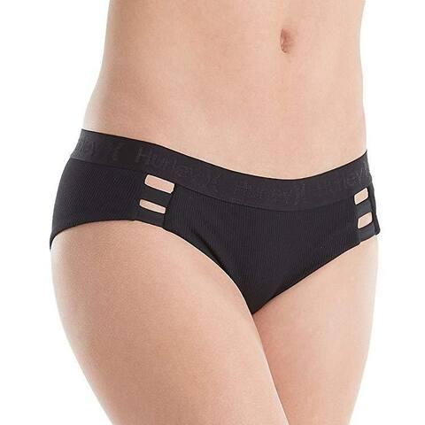 Hurley Women's Quick Dry Boy Bottoms Black Swimsuit Bottoms SZ: S
