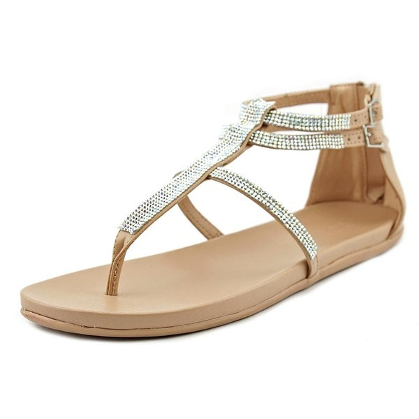 Kenneth Cole Reaction Slim It Women Open Toe Synthetic Tan Thong Sandal