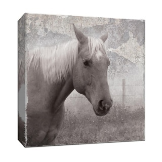 """PTM Images 9-147346  PTM Canvas Collection 12"""" x 12"""" - """"Vintage View I"""" Giclee Horses Art Print on Canvas"""