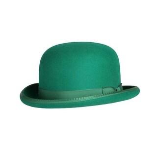 Classic Derby Hat in Kelly Green