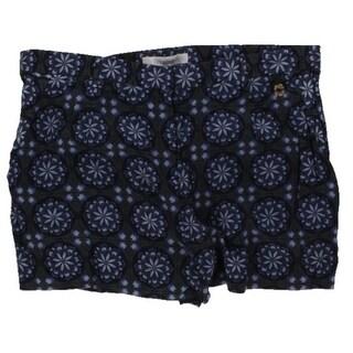 OndadeMar Womens Casual Shorts Floral Print Flat Front