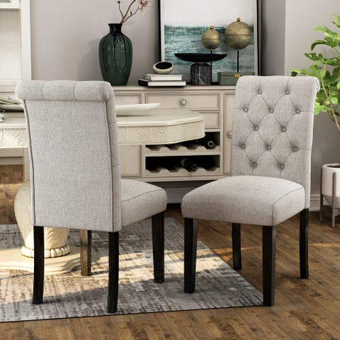 Copper Grove Chalwa Rustic Tufted Armless Dining Chair