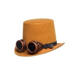 Underwraps Hat with Goggles Brown - Brown/Orange