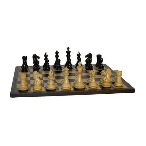 Black Pro Chess Set With Black/Birdseye Maple Board - Multicolored - 2 X 17.25 X 17.25 inches