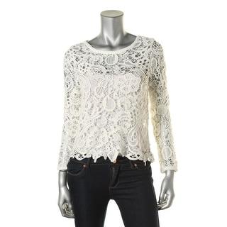 Zara Trafaluc Womens Lace Open Stitch Pullover Top - S