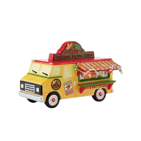 "Department 56 Snow Village ""La Fiesta To Go Truck"" Ceramic Accessory #4042411"