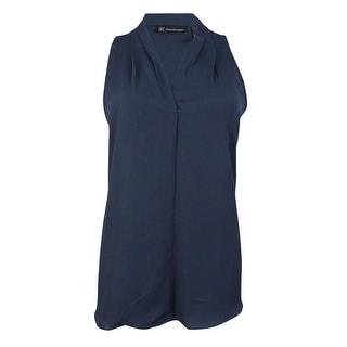 INC Women's Sleeveless Chiffon V-neck Blouse - 4