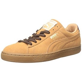 PUMA Men's Suede Classic Casual Fashion Sneakers - sandstorm/oxblood/gum